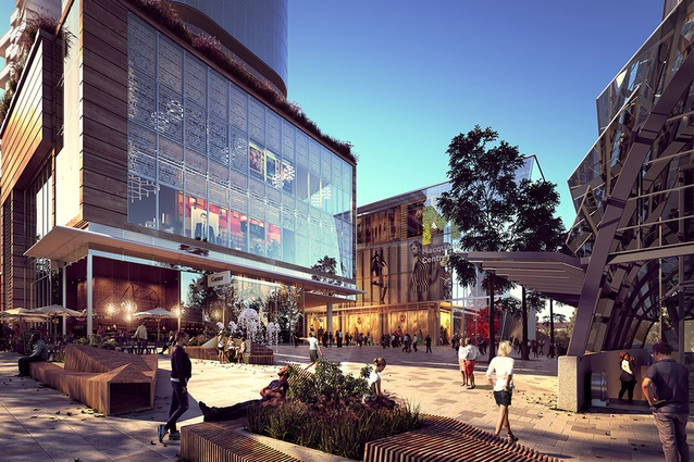Stage one of the redevelopment of Macquarie Centre by NH Architecture and Allen Jack and Cottier.