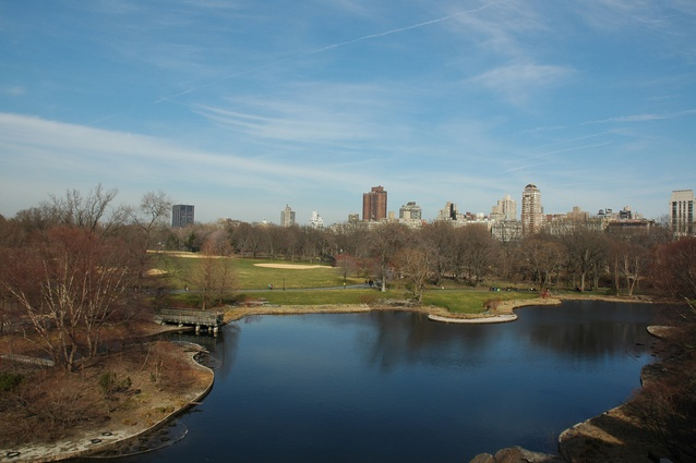 The 18-acre Central Park Lake was an essential part of Olmstead and Vaux's design.