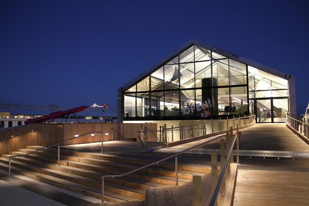 Clear Panels Help To Lighten Hobart Pier Architectureau