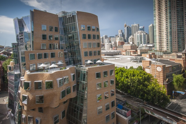 Dr Chau Chak Wing building by Frank Gehry.