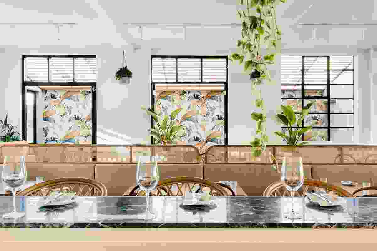 Fresh from a trip to Tulum, on the coast of Mexico, Jean-Pierre Biasol felt that the relaxed and charming interiors he had experienced on his holiday could be inspiration for this eatery.