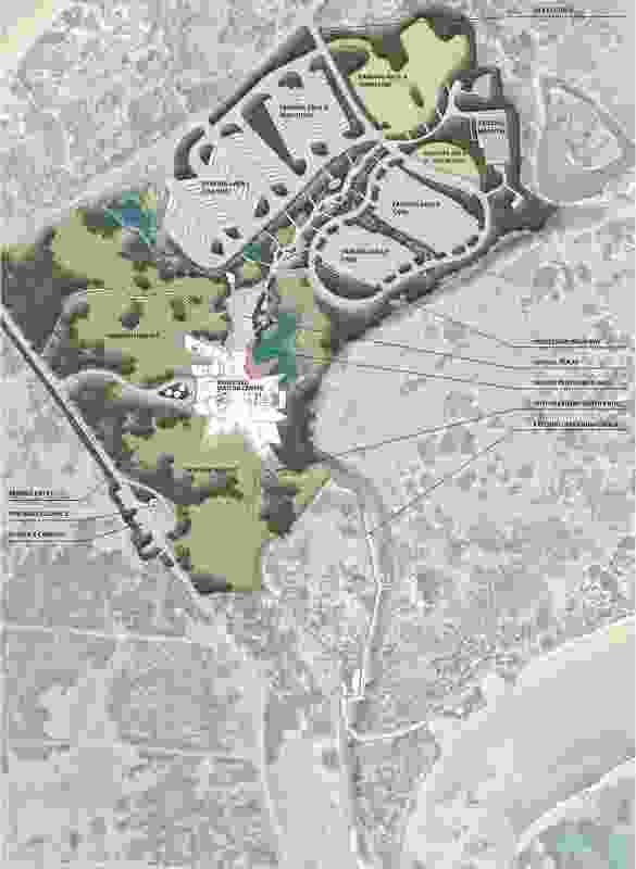 Landscape site plan of the proposed Penguin Parade Visitor Centre by Tract Consultants.