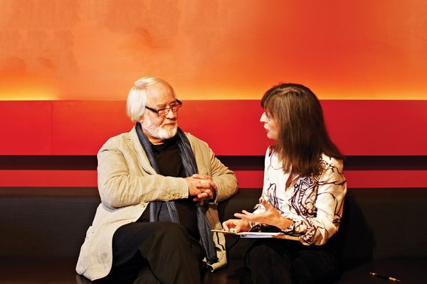 Rachel Hurst in conversation with Juhani Pallasmaa.