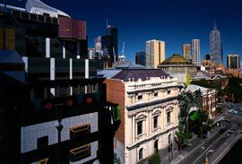 Building 8 and Storey Hall's Swanston Street faces. 2 Image: John Gollings