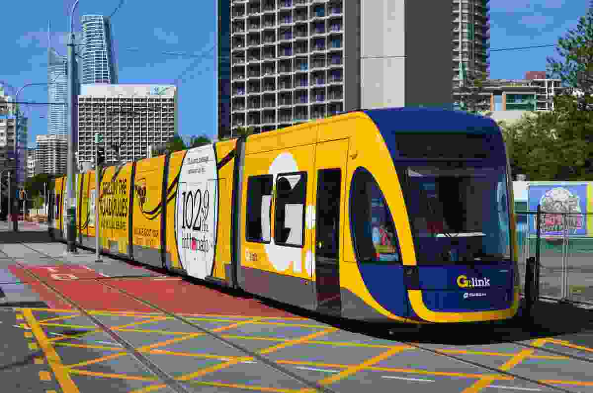 Stage 1 of the light rail, known as G:link, was completed in July 2014 and consists of a single 13 kilometre line between the Gold Coast University Hospital and Broadbeach.