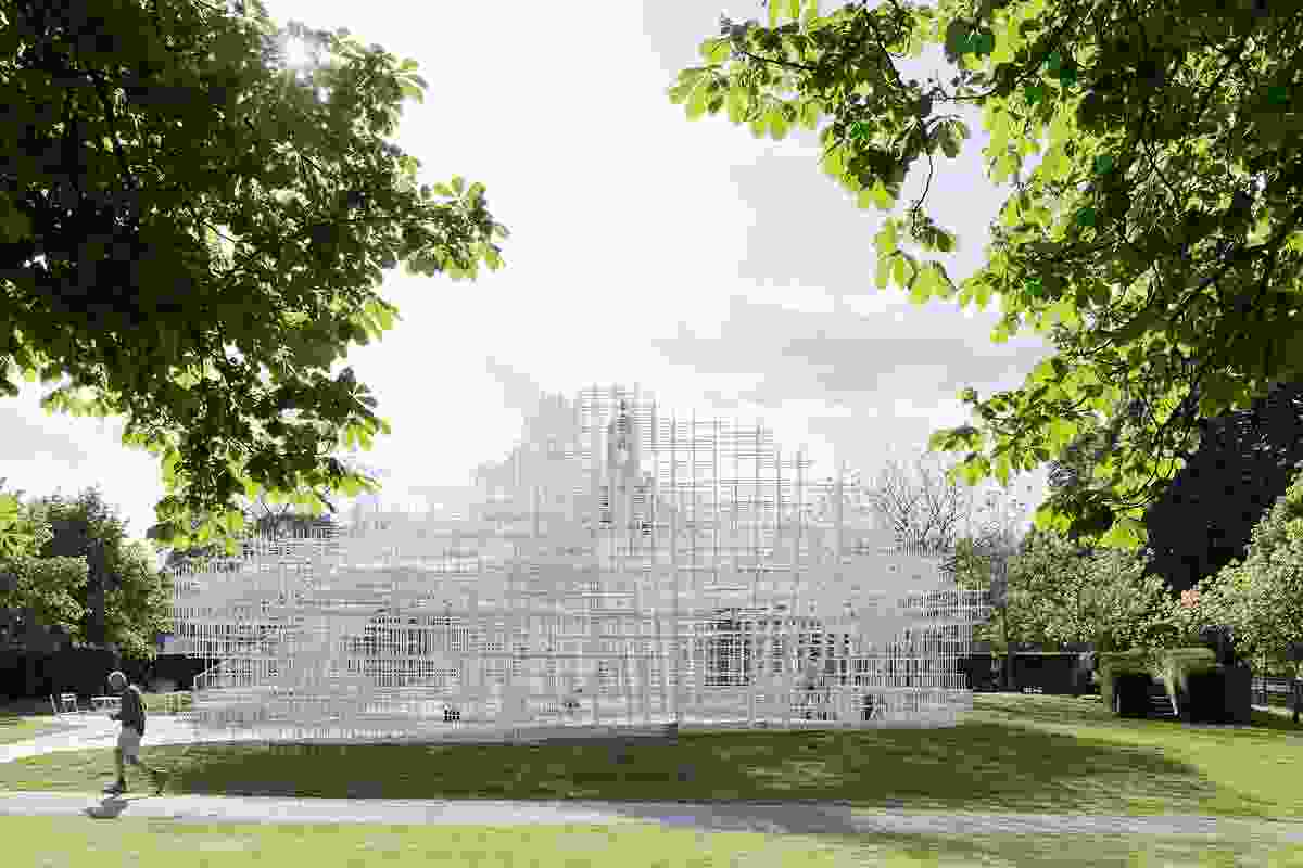 The cloud-like Serpentine Pavilion by Sou Fujimoto Architects, 2013.