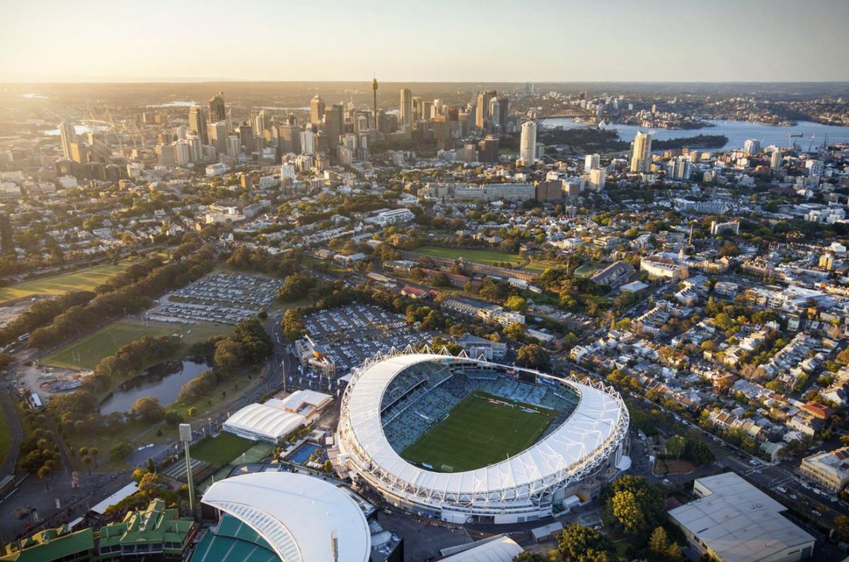 Sydney Football Stadium by Cox Architecture.