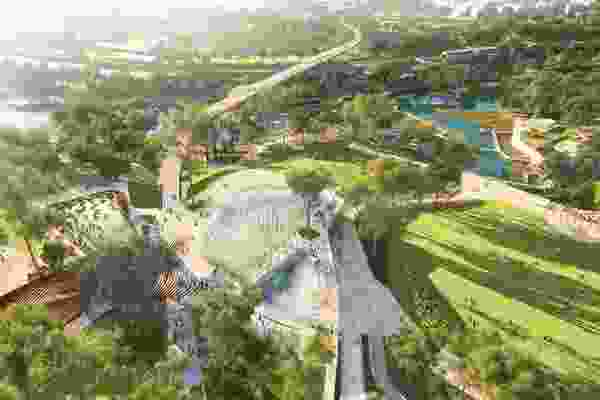 Indicative image from the Victoria Park Draft Vision, featuring the planned cultural centre.