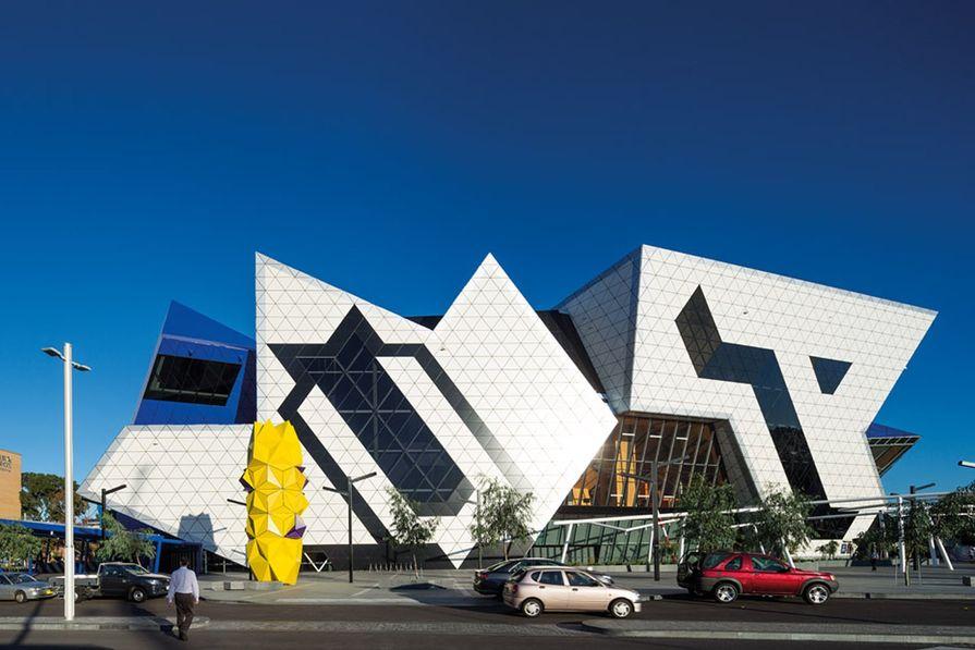 The architecture seeks to provoke symbolic interpretation.