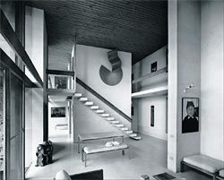 Heide II living room facing east, 1968.