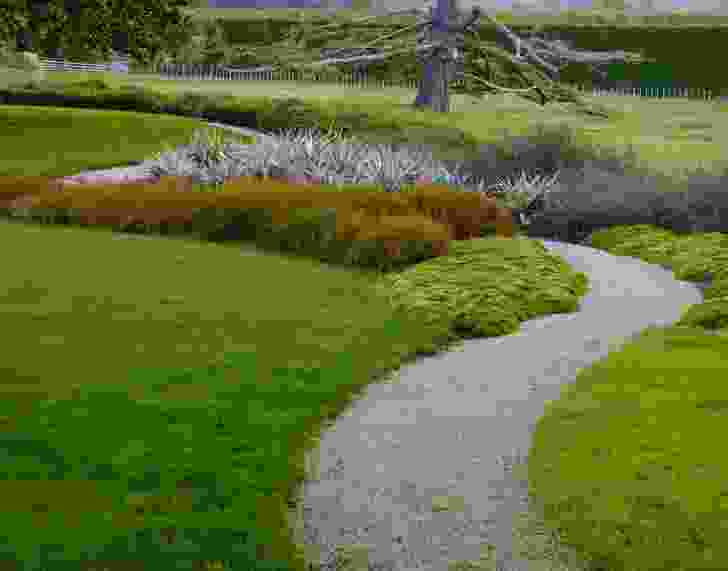 The grounds at Orongo Station by Nelson Byrd Woltz Landscape Architects.