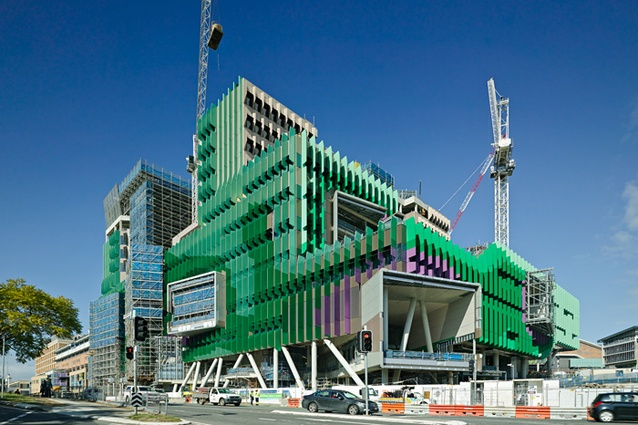 Lady Cilento Children's Hospital nearing completion.