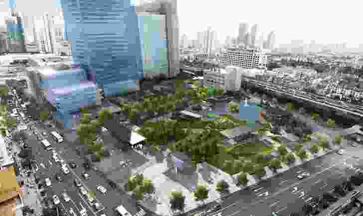 Proposal by Hassell for Jing An Park in Shanghai.