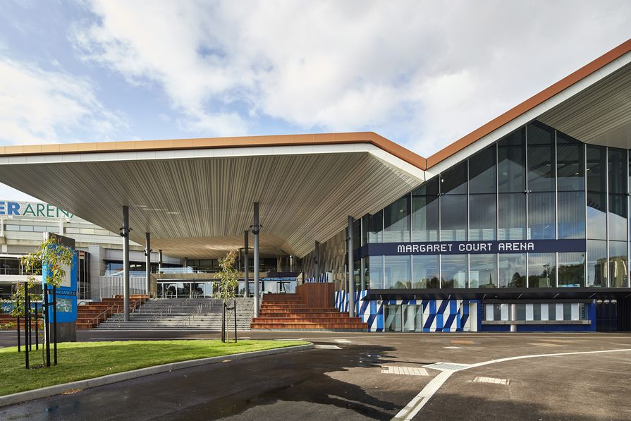 Margaret Court Arena by NH Architecture and Populous.