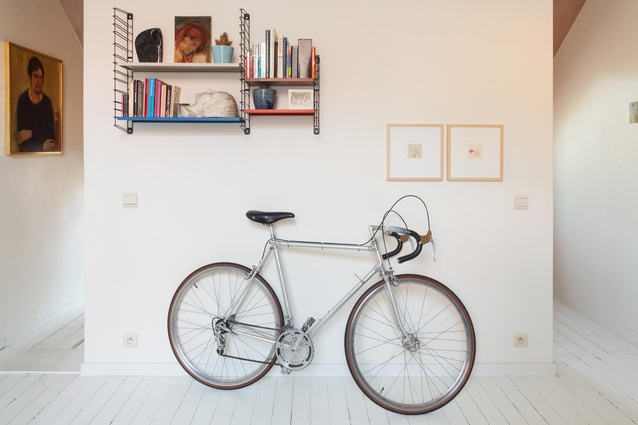 The couple's possessions neatly curated for the home.