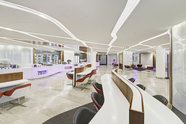 Virgin Australia Sydney Lounge by Tonkin Zulaikha Greer Architects.