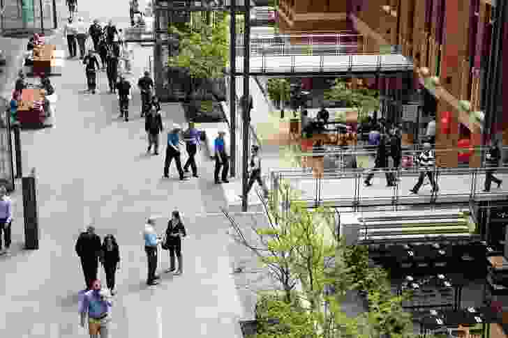 Brookfield Place consists of a series of connected urban lanes.