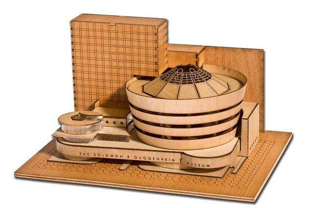 Model kit for the Guggenheim Museum in New York.