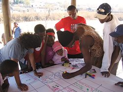 Global Studio 2007. Working with children in Alexandra Township, Johannesburg.