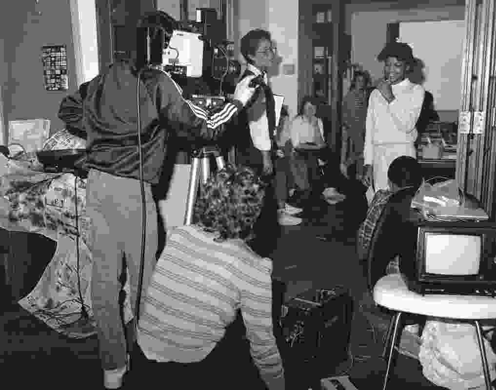 Working with children in Detroit in 1986.