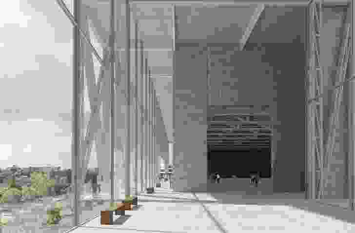 The winning design for the Powerhouse Parramatta competition by Moreau Kusunoki and Genton.