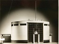Model of the Australian Pavilion, 1937 Paris Exposition, by Stephenson, Meldrum and Turner. Photograph Russell Roberts. State Library of Victoria.