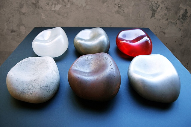 Andrew Southwood-Jones and Alexander Kashin, <em>Untitled</em> (2012), resin, zinc, iron, aluminium, stone and SLA.