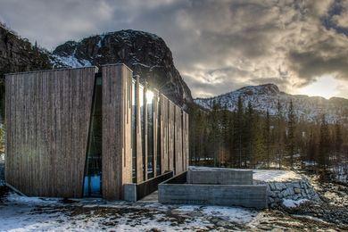 Øvre Forsland power station, Norway, by Stein Hamre arkitektkontor, featuring Kebony timber.