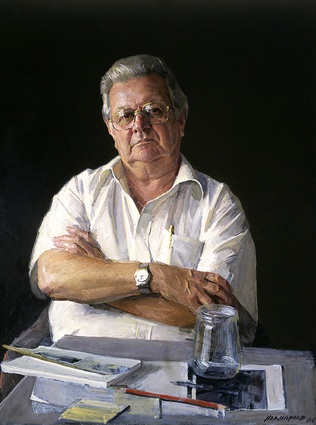 <i>Jack Mundey</i> by Robert Hanaford, 2001.
