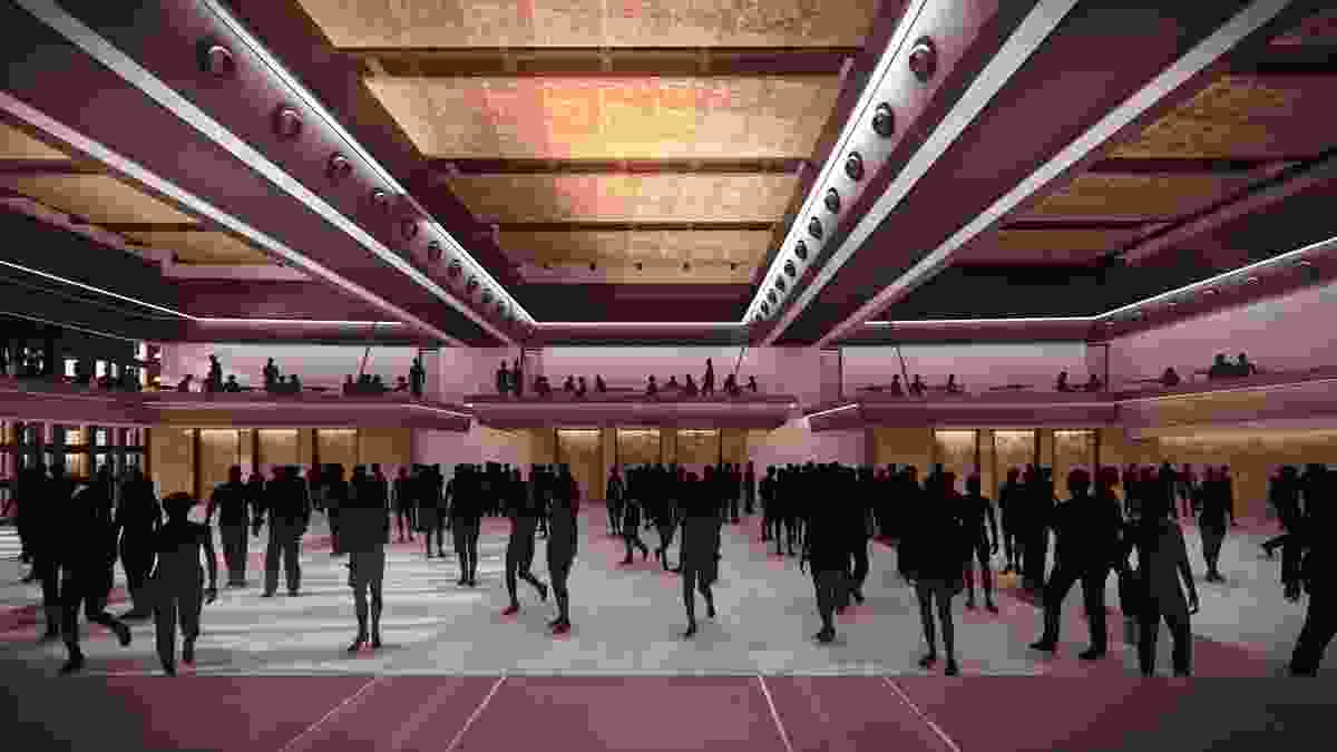 A convention centre at the proposed MONA Motown by Fender Katsalidis.