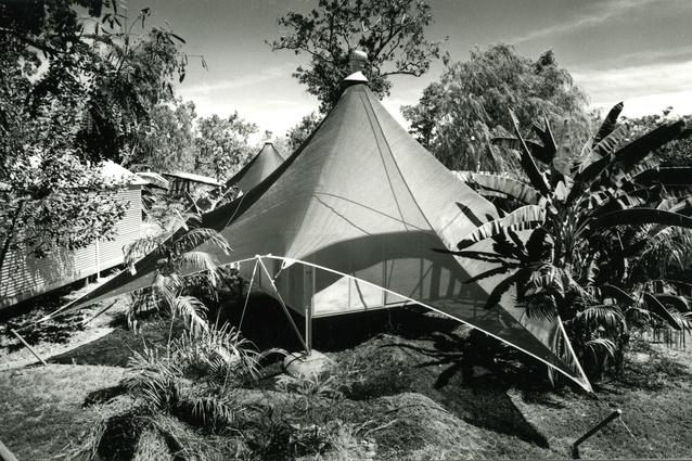The love tents, Anbinik Kakadu Resort (formerly Lakeview Park), Jabiru, Kakadu National Park, NT, 1995.