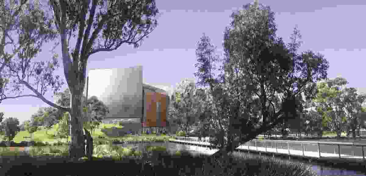 Denton Corker Marshall's design for the new Shepparton Art Museum.