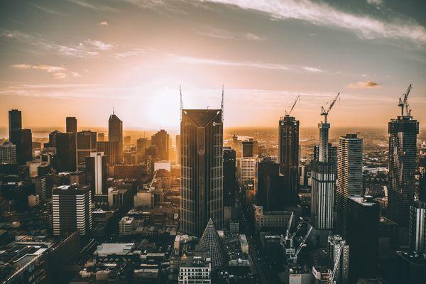 Melbourne skyline.