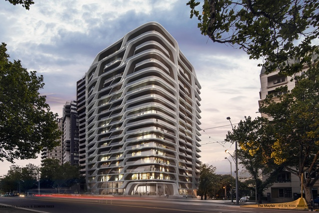 The Mayfair residential tower development designed by Zaha Hadid Architects.
