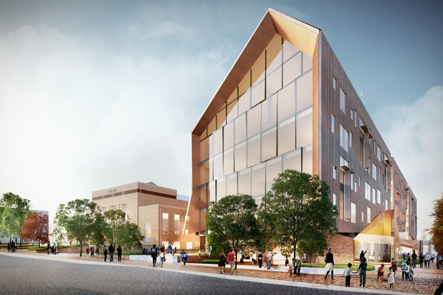 Concept design for the Ballarat GovHub by John Wardle Architects.