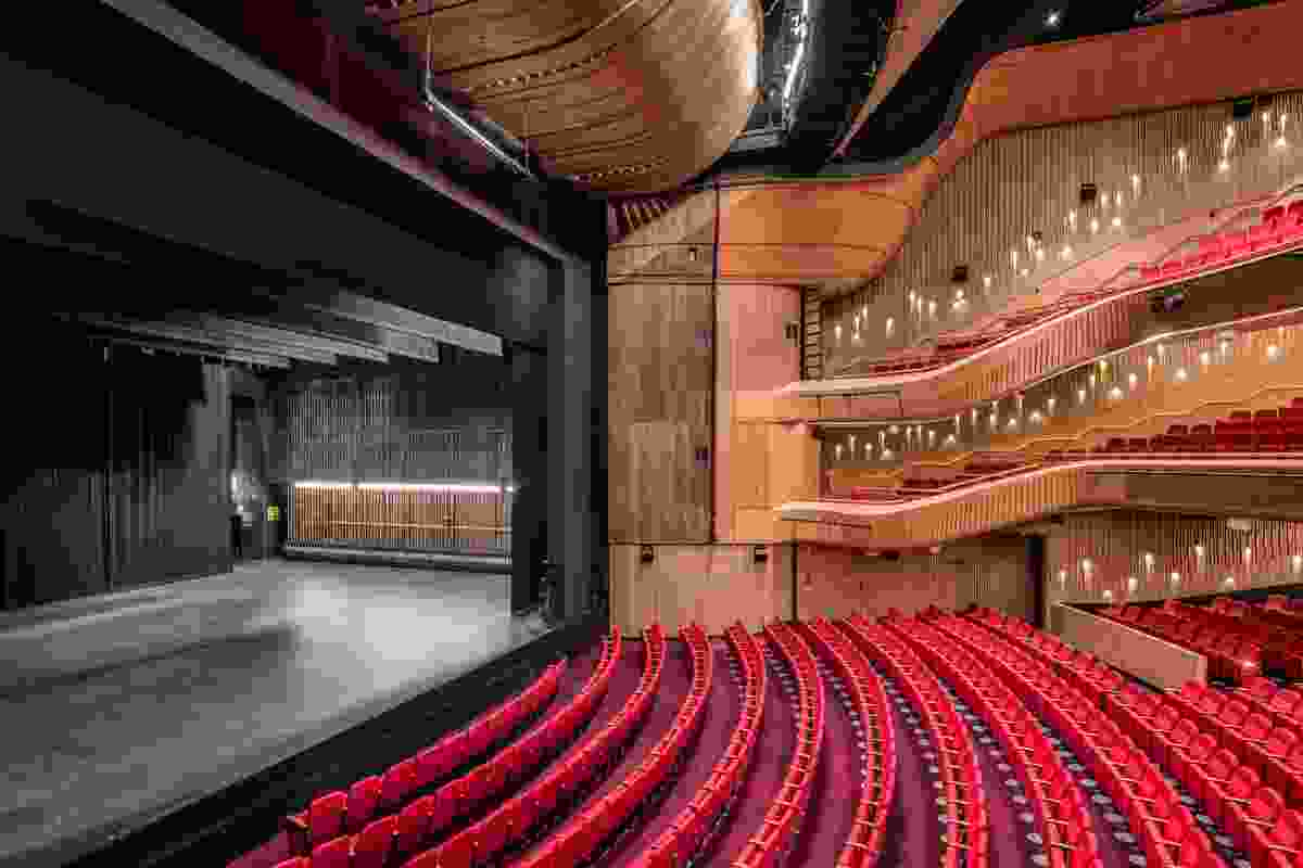 The new auditorium of Her Majesty's Theatre redevelopment by Cox Architecture.