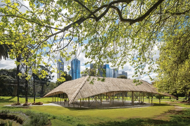 The third iteration of the MPavilion, designed by Studio Mumbai.