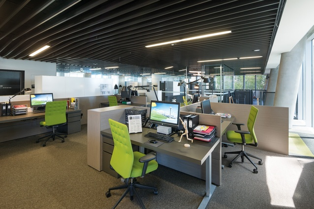 The fitout of the Institute's Melbourne office – which occupies five of the twenty-two floors – has been designed by Hassell.