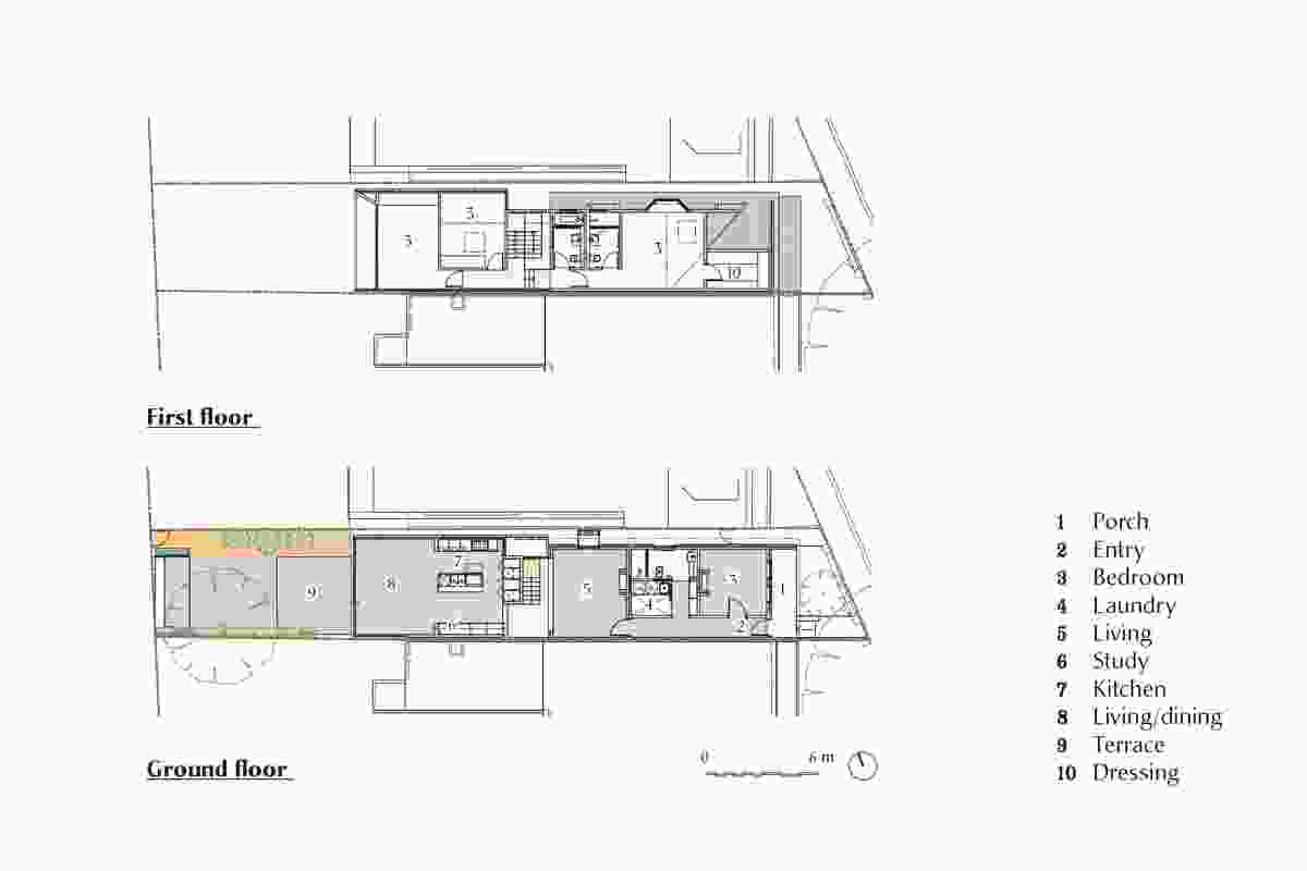 Plans of Balmain Semi by CO-AP and Nick Bell Architects.