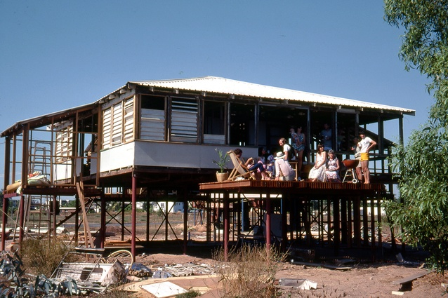 Troppo House under reconstruction, Coconut Grove, Darwin, NT, 1981.