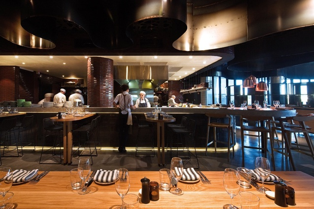 A home-style atmosphere where guests can interact with chefs.