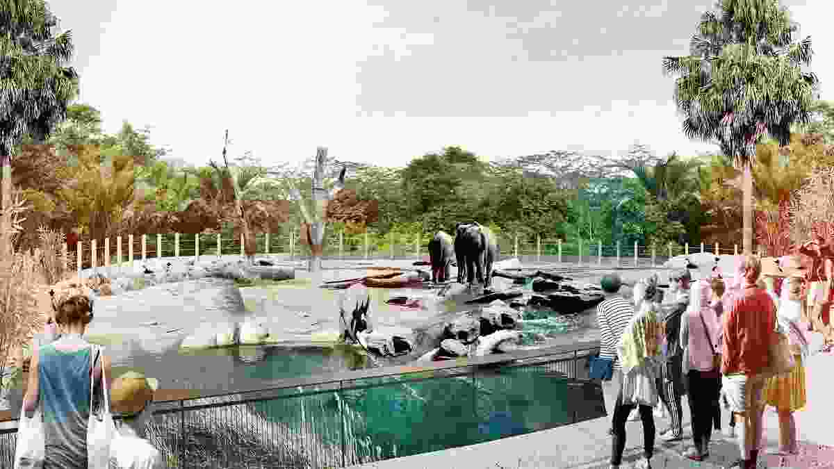 South East Asian Tropical enclosure at the proposed Sydney Zoo masterplanned by Aspect Studios.