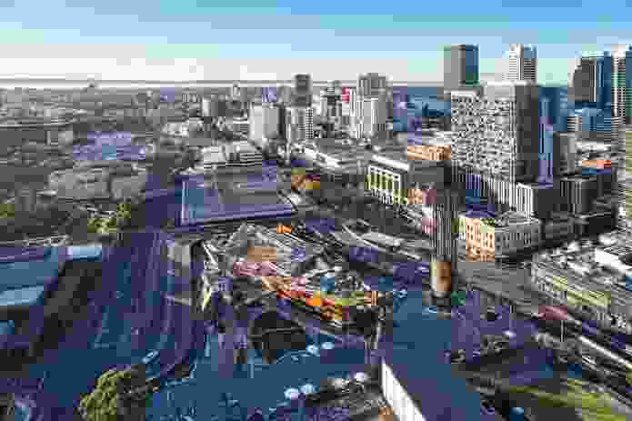 Previously separated by railway lines, the Perth CBD and Northbridge are now connected by the multi-level development.