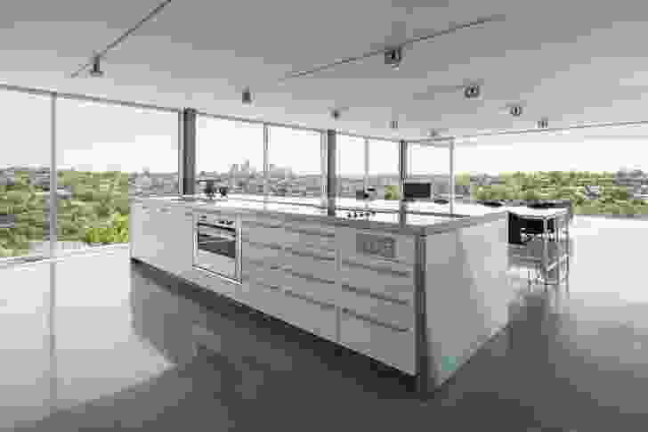 Floor-to-ceiling glazing in all rooms takes advantage of the impressive views and natural light.