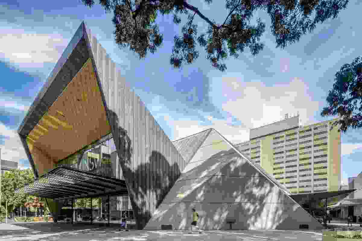 University of New South Wales Sir John Clancy Auditorium by Lahznimmo Architects.
