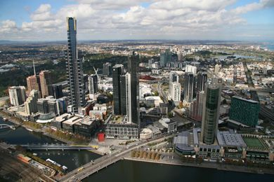 Melbourne's Southbank, which has been subject to rapid densification in recent years.