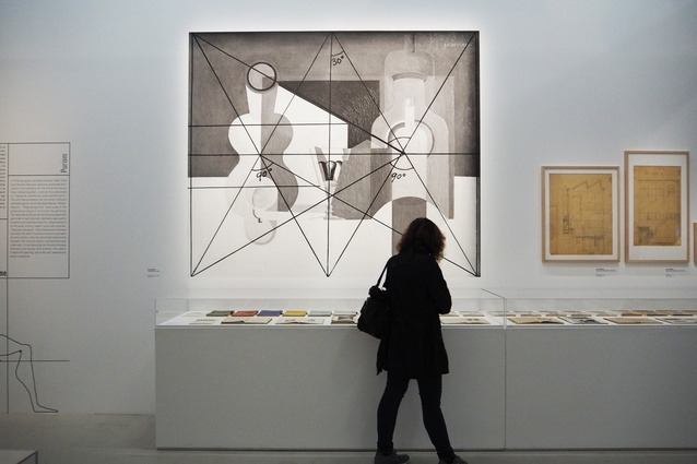 Display at the Le Corbuesier - Mesures de l'Homme exhibition at the Pompidou, 2015.
