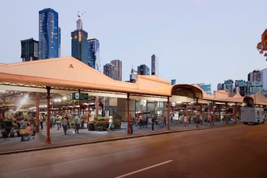 The restoration of sheds A to D of the Queen Victoria Market by Grimshaw Architects.