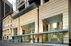 "363 George Street, Sydney – ""an essential place of city life"". Denton Corker Marshall, 1999. Photograph John Gollings."