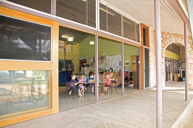 St Mary's Catholic Primary School New Hall and Library, Reggio Emelia Early Learning Centre and Courtyard by Troppo Architects.